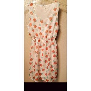 Papaya Sleeveless Hearts Dress